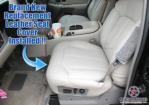 2002 Chevy Tahoe Lt Z71 Ls driver Side Bottom Replacement Leather Seat Cover Tan