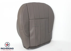 1999 Jeep Grand Cherokee Limited Driver Side Bottom Leather Seat Cover Tan Gray