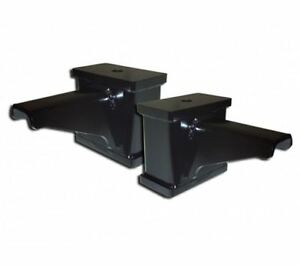 Icon Leaf Spring Block Kit 4 In Fabricated Blocks With Built In Bump Stop