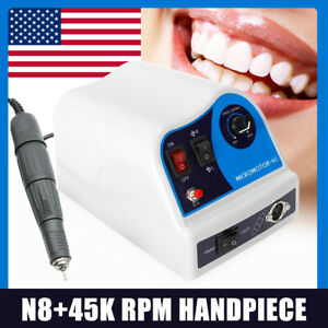 Dental Lab Marathon Micromotor Polisher Polishing N8 45k Rpm Handpiece 2 35mm Us