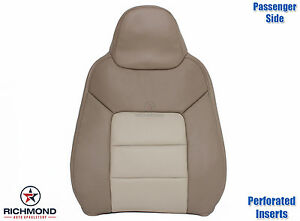 03 06 Expedition Eddie Bauer passenger Lean Back Perforated Leather Seat Cover
