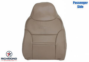 00 Ford Excursion Limited 7 3l Diesel Passenger Lean Back Leather Seat Cover Tan