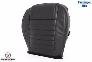 2005 2009 Ford Mustang Coupe V8 passenger Side Bottom Leather Seat Cover Black