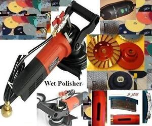 Wet Polisher Polishing Pad Diamond 1 2 3 Hole Saw Grinding Cup Stone Concrete