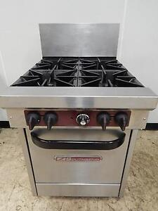 South Bend 4 burner Gas Range Std Oven X424e