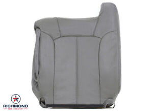 2001 2002 Chevy Silverado 3500 Lt Driver Side Lean Back Leather Seat Cover Gray