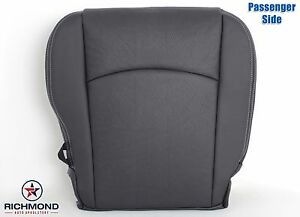 2009 2012 Dodge Ram Laramie Sport Passenger Bottom Leather Seat Cover Dk Gray