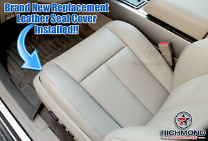 07 14 Ford Expedition Eddie Bauer El Max Driver Bottom Leather Seat Cover Tan