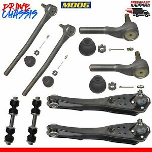 8 Pc 2 Control Arm Lower 4 Tie Rod Ends 2 Sway Bar Front Falcon Mustang 67 Moog