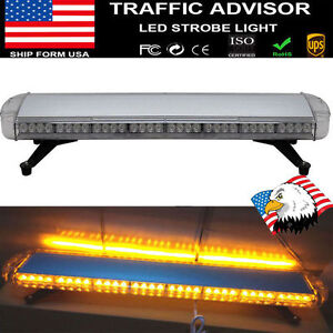 72 Led 38 Light Bar Emergency Beacon Warning Tow Truck Plow Strobe Amber yellow