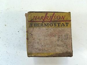 Vintage Harrison Water Heater Automotive Thermostat 1247 Made In Usa