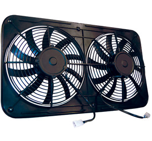 Maradyne Mjs26k Dual 12 Electric Radiator Fan 2600 Cfm For Cross flow W Shroud