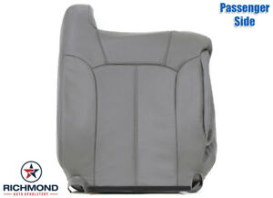 2002 Chevy Tahoe Z71 Passenger Lean Back Replacement Leather Seat Cover Gray