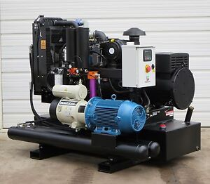 80 Kw 60 Cfm Spray Foam Rig Diesel Generator Compressor Air Dryer Combo Unit