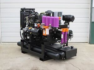 30 Kw 100 Cfm Spray Foam Rig Diesel Generator Compressor Air Dryer Combo Unit