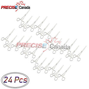 Precise Canada 24 Pcs 8 Pean Hemostat Locking Forceps Straight