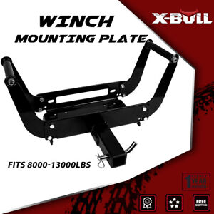 X Bull Winch Mounting Plate Bracket Foldable Cradle Atv For Truck Trailer 4wd