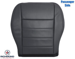 2009 Dodge Charger passenger Side Bottom Replacement Leather Seat Cover Dk Gray