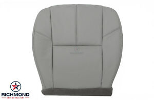 2010 Chevy Suburban Lt Ls driver Side Bottom Replacement Leather Seat Cover Gray