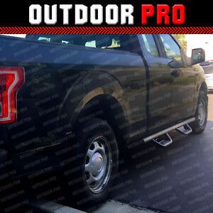 Fit 16 20 Ford F 150 Super Cab Hoop Dropped Running Boards Nerf Bars Side Steps
