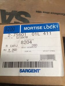 Sargent Mortise Door Lock 8204 R Lw1j 26d 01l 411
