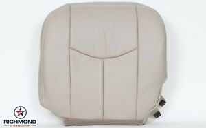 2004 2005 Chevy Suburban driver Side Bottom Replacement Leather Seat Cover Tan