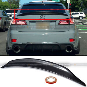 Fit 06 12 Is250 Is350 Duck Bill High Kick Real Carbon Fiber Trunk Wing Spoiler