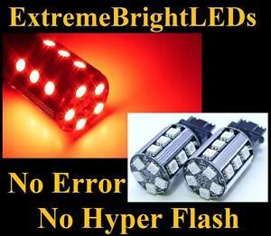 Two Red No Resistor Required 3157 3057 20 smd Led Front Turn Signal Lights