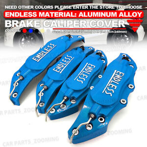 Metal 3d Endless Universal Style Brake Caliper Cover Front Rear 4x Blue 10 5 W1