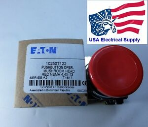 New Eaton Heavy Duty Metal Emergency Push Button Oper Mushroom Head Red 2nc