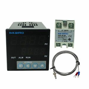 Itc 106vh Digital Pid Temperature Controller K Sensor 40 A Ssr Heater Fan