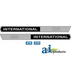 Ih Case International Tractor 475 Decal Set