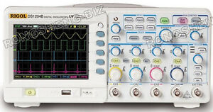 Brand New Rigol Digital Color Oscilloscope Ds1104b 100mhz 4chs rs02