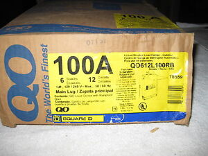 Nib Square D Qo612l100rb 100 Amp Single Phase 3r Outdoor Load Center With Cover