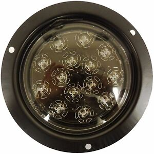 2 Red Flush mount Led Stop turn tail Light With Clear Lens New Free Shipping