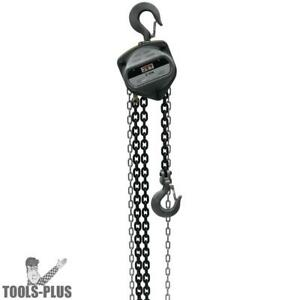 Jet 101930 2 ton Hand Chain Hoist With 10 Lift New
