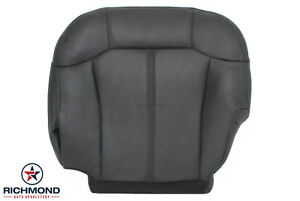2002 Chevy Silverado Driver Side Bottom Replacement Leather Seat Cover Dark Gray