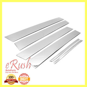For 2012 2016 Toyota Camry Chrome B Pillar 6pcs Pillar Post Stainless Steel Fast Fits 2014 Camry Se