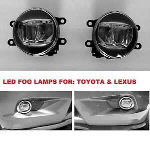 1 Pair Replacement Led Fog Light Lamps For Lexus Toyota 81210 48051 81220 48051
