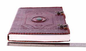 Handmade Leather Journal Diary Men s Day Organizer Planner Stone Embossed
