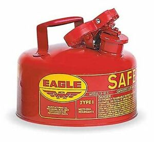 Eagle Ui 10 s Red Galvanized Steel Type I Gas Safety Can 1 Gallon Capacity 8