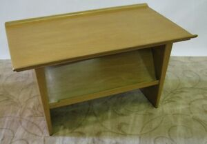 Rare Ed Wormley For Dunbar Side Table Magazine Rack With Rolled Edge Top