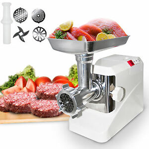 2000w Electric Meat Grinder Kitchen Butcher Sausage Maker 3 Cutting Blades
