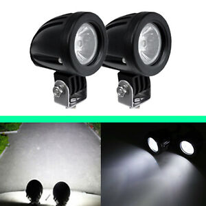 10w Led Work Light Offroad Driving Fog Lamp Fit Motorcycle 2pcs