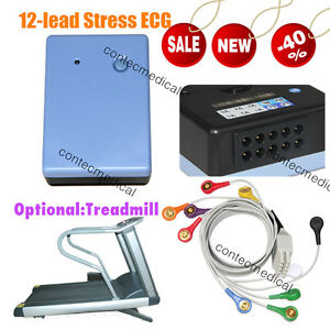 New 12 lead Stress Ecg ekg Monitoring Wireless Recorder System Software Analyzer