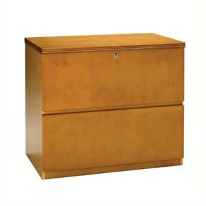 Filing Cabinet File Storage Luminary 2 Drawer Lateral Wood In Maple Finish