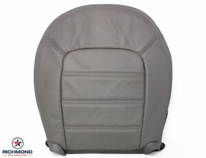 2004 2005 Ford Explorer Xlt 4 door driver Side Bottom Leather Seat Cover Gray