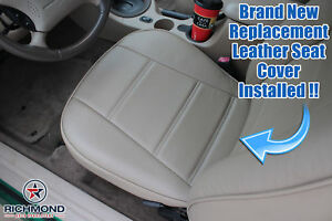 2000 2001 2002 2003 Ford Mustang V6 Driver Side Bottom Leather Seat Cover Tan