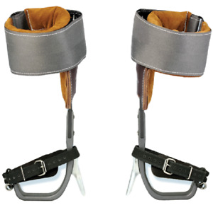 Aluminum Tree Climbers Spur Set W strap Weaver Leather Deluxe Pads climb Right
