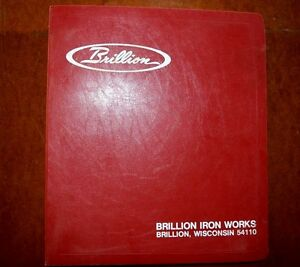 Nice Brillion Iron Works Sales Pamphlets Manual Crop Farm Machinery Rare